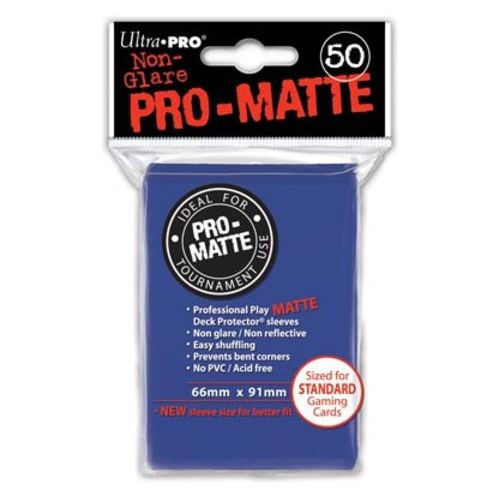 50 Ultra Pro Pro-Matte Blue Deck Protector Card Sleeves Pokemon MTG ULP82653