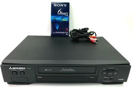 Mitsubishi HS-U540 VHS VCR Plus Video Cassette Recorder Player Tested No Remote - $60.37