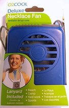 O2 Cool Necklace Fan, Vertical Air Flow with Lanyard - Lt Blue