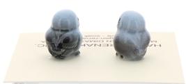 Hagen-Renaker Miniature Ceramic Bird Figurine Blue Tweetie Baby Tiny Chick Set 2 image 2
