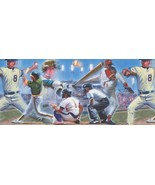 Baseball Players Vintage 110224 Wallpaper Border - $19.90