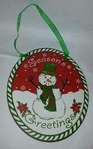 Giftcraft Rustic Oval Christmas Tin Ornament (Seasons Greetings) - $6.95