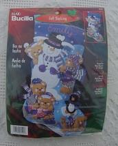 "NEW Vintage Bucilla Christmas Snow Days Kit 18"" #84590 - Snow Fun, Snowman, Play - $47.99"
