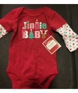 0 3 Baby Girls Christmas Long Sleeve Creeper Reindeer Jingle Bells - $4.74