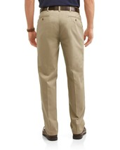 George Men's Wrinkle Resistant Flat Front 100% Cotton Twill Dress Pant 38x30 image 2