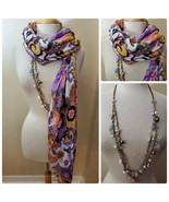Women's Fashion Modal Scarf Multi-Color Paisley Light Weight & Matching ... - $39.10