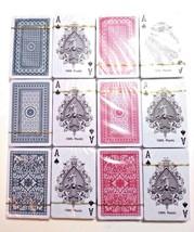 12 Dk Playing Cards Royal Brand Washable 100% Plastic Bridge size, Fee 1... - $28.70