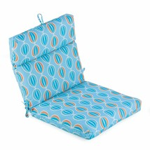 "Retro Geometric Outdoor Patio Chair Cushion Pad Hinged Seat Back 44"" L x... - $68.80"