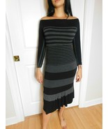 BAILEY 44  Women's Stripped  Long Sleeve Maxi Dress Size L  - $35.63