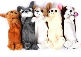 Pencil Pen Case Kids Plush Cute Dog Puppy School Supplies Bags Soft Pouch  - $6.95