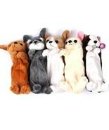 Pencil Pen Case Kids Plush Cute Dog Puppy School Supplies Bags Soft Pouch  - $6.59