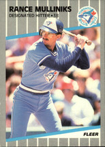 1989 Fleer #242 Rance Mulliniks NM-MT Blue Jays - $0.75