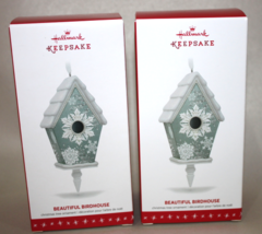 2016 Hallmark Keepsake Beautiful Birdhouse Ornaments - Lot of 2 - $32.95