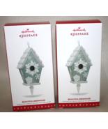 2016 Hallmark Keepsake Beautiful Birdhouse Ornaments - Lot of 2 - $32.95