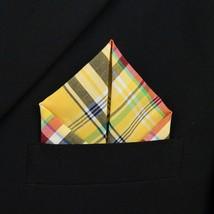 100% Cotton Quality Plaid Pocket Square Stitched edges Fashion Handkerch... - $3.49