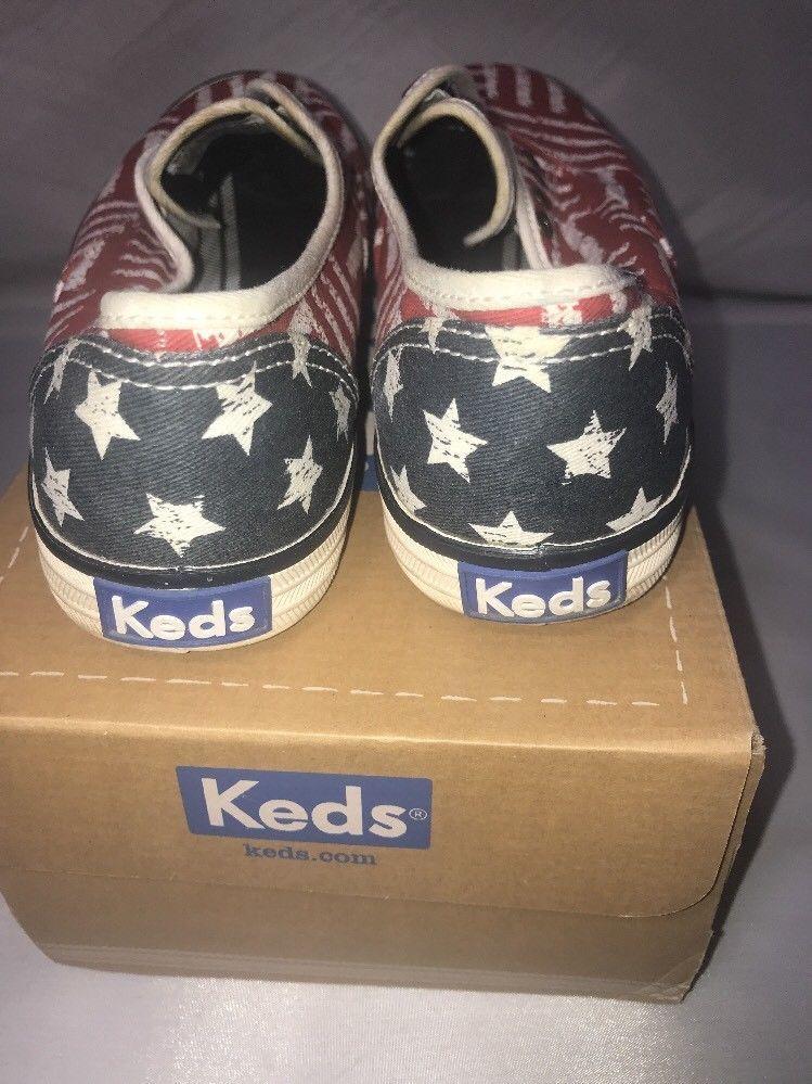 Keds Champion Red Stripe Laceless Fashion Sneakers Size 7.5