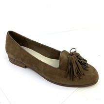 ANNE KLEIN 'Darcy' Taupe Suede Tassels Loafers Size Women's Size 8.5 Med... - $29.69