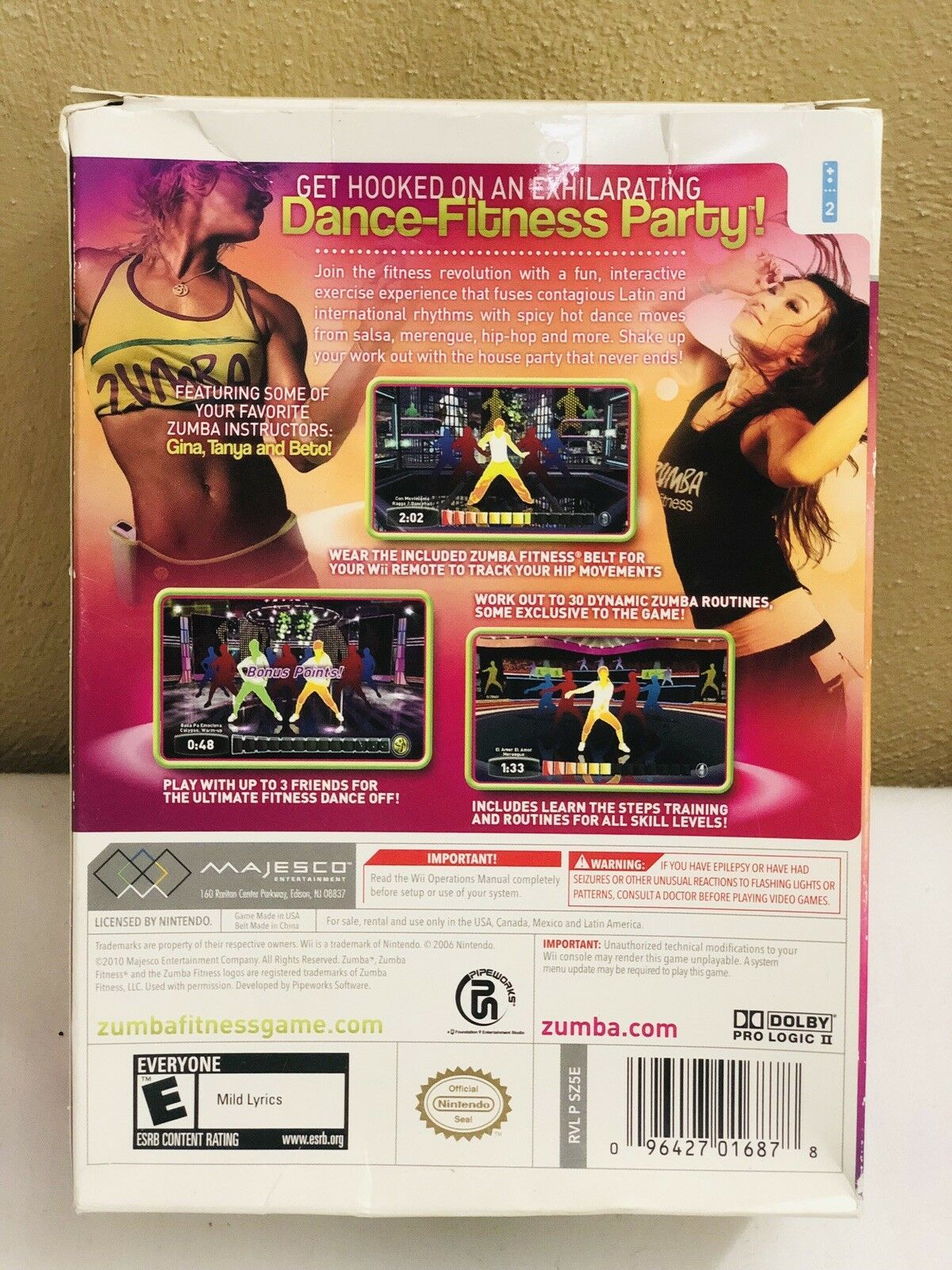 New Wii Zumba Fitness Join The Party w/Belt Nintendo 2010 image 3