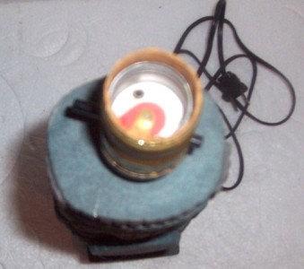Maya Inca AZTEC Handmade Indian Ceramic Pottery Statue Electric Lamp #150/1000