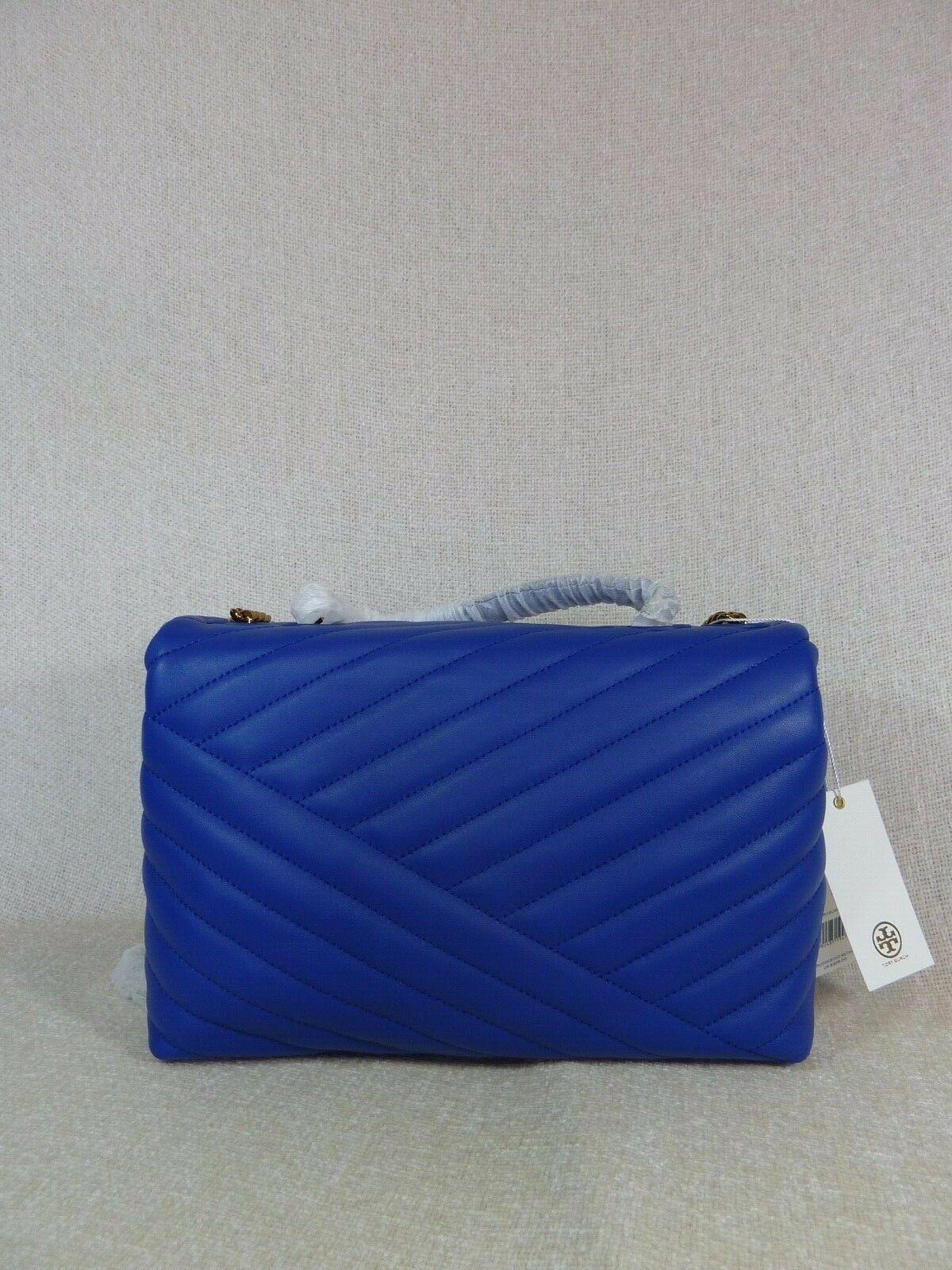 NWT Tory Burch Nautical Blue Kira Chevron Convertible Shoulder Bag image 6