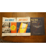 Lot of 3 Antique/Vintage Air Force Magazines, 1957, Recruitment - $20.00