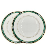 Lenox KELLY Debut Collection White Gold Multicolored Trim Salad Plates S... - $24.70