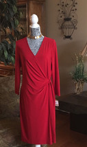 Anne Klein Classic Wrap-Look Design Dress-Size ... - $44.55