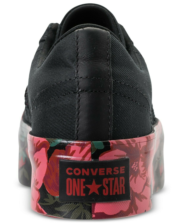 Converse Womens One Star Platform Ox Canvas 561766C Black//Cherry  Sizes 7-8
