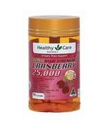 Healthy Care Super Cranberry 25000 90 Capsules - $126.99