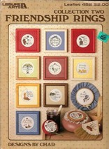 FRIENDSHIP RINGS Collection Two in Cross Stitch Leisure Arts 452 by Char 1986 - $2.96
