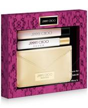 Jimmy Choo 3-piece Spray Set Fever, Jimmy Choo Eau De Parfum Gold Card Case - $31.99