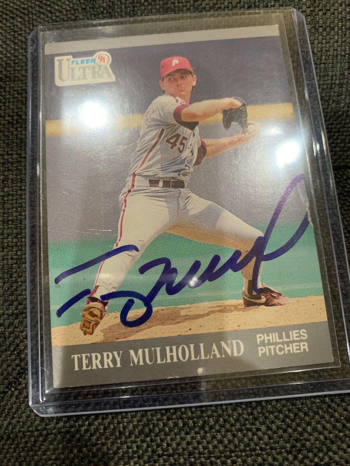 1991 Fleer Ultra #269 Terry Mulholland Phila Phillies Card Auto Hand Signed