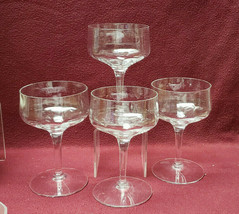 """FOUR (4) SENECA Crystal - REFLECTION CLEAR Optic pattern - 5"""" CHAMPAGNE ... - $34.95"""