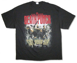 Five Finger Death Punch-Zombie Killing-2X Black  T-shirt - $21.28