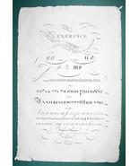 "1826 PENMANSHIP Calligraphy Practice - 12"" x 18"" (30 x 46 cm) Superb Pri... - $40.46"