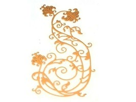 Large Delicate Flourish with Flowers Die image 2