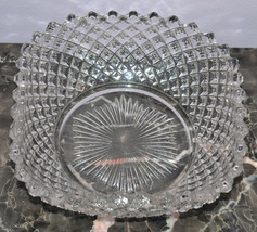 """Westmoreland Glassware English Hobnail Crystal 555 Clear 6"""" Nappy Square... - $12.36"""