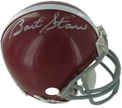 Bart Starr signed Alabama Crimson Tide Replica TB Mini Helmet (gray mask... - $328.95