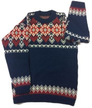 Vintage A.S. Evebofoss Sandane Norway Pure New Wool Nordic Sweater sz 54... - $73.39