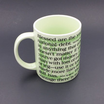Money Quotes Ceramic Coffee Mug Cup Money Finance Taxes Russ Berrie Vintage - $9.99