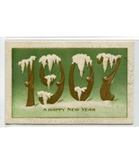 Happy New Year 1907 Date Greetings postcard - $5.89