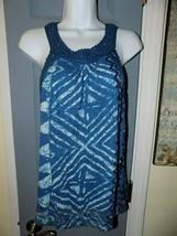 Lucky Brand Blue Sleeveless Knit Top Size M Women's EUC - $21.84