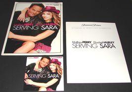 2002 SERVING SARA Movie PRESS KIT & CD Mathew Perry Elizabeth Hurley - $13.54