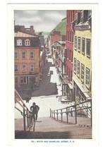 Quebec Canada Petite Rue Champlain Vintage Lorenzo Audet Postcard - $4.99