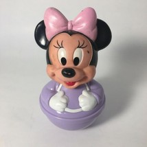 Disney Vintage Minnie Mouse Purple Weeble Wobble Roly Poly Figure Baby Toy  - $14.85