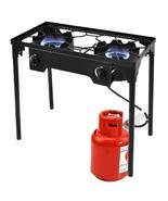 150000 BTU Double Burner Outdoor Stove BBQ Grill - $149.82