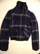 Forever 21 Twenty One Plaid Purple Wool Blend Juniors Womens Jacket Size... - $14.85