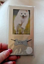 """Silver dog photo picture frame for 2"""" x 3"""" photo - $6.95"""