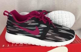 Nike Roshe Sportschuhe One Flug Gewicht GS Sneakers Schwarz Rosa Größe - $38.79
