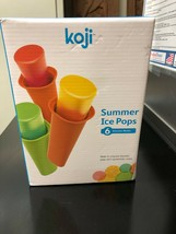 NEW - Koji Summer Ice Pops 6 Squeezable Silicone Molds For A Healthy Des... - $12.49 CAD